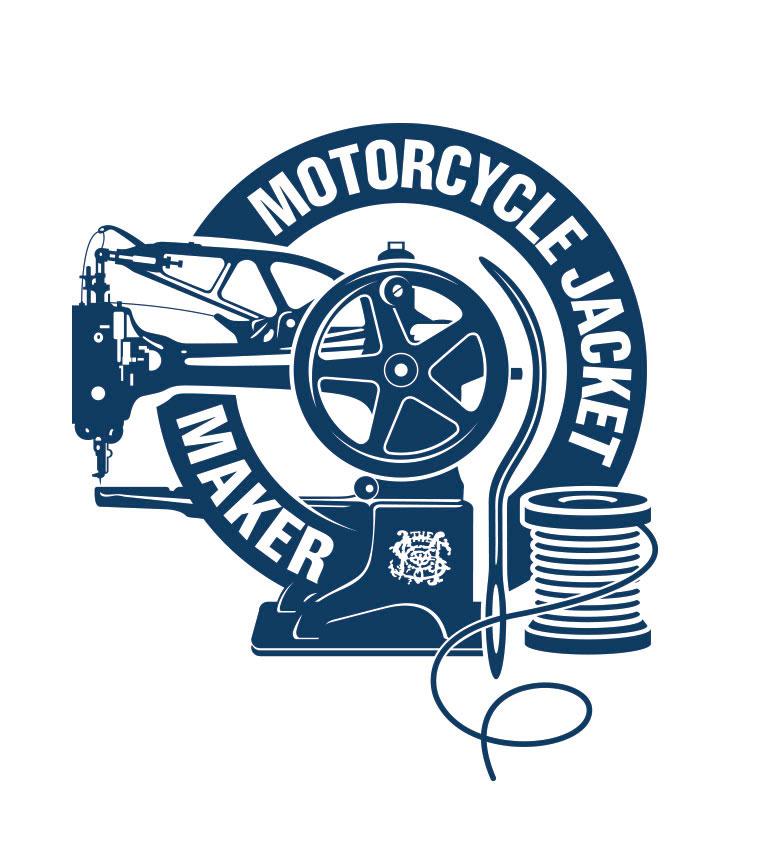 Logo Motorcycle Jacket Maker créé pour Les Motocyclettistes par Maindor