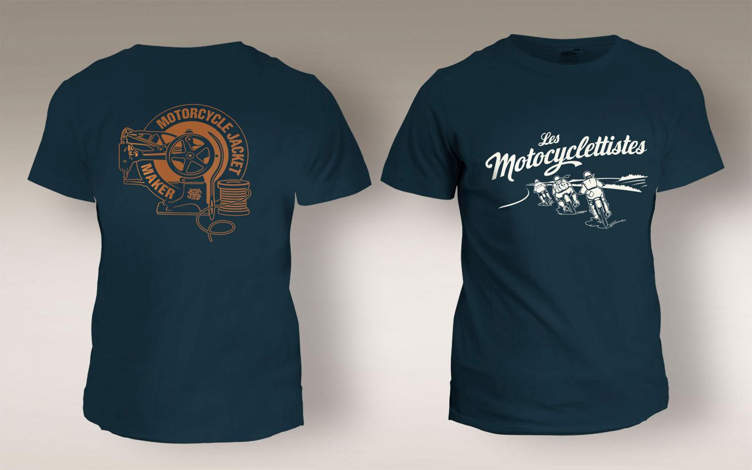 Tee-shirts Les Motocyclettistes par Maindor