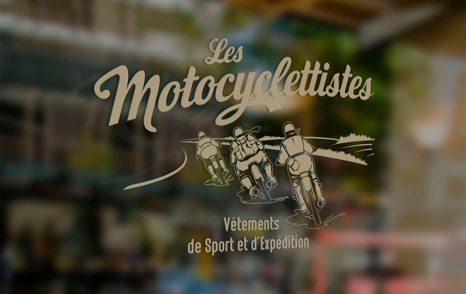 Logo vitrine Les Motocyclettistes par Maindor