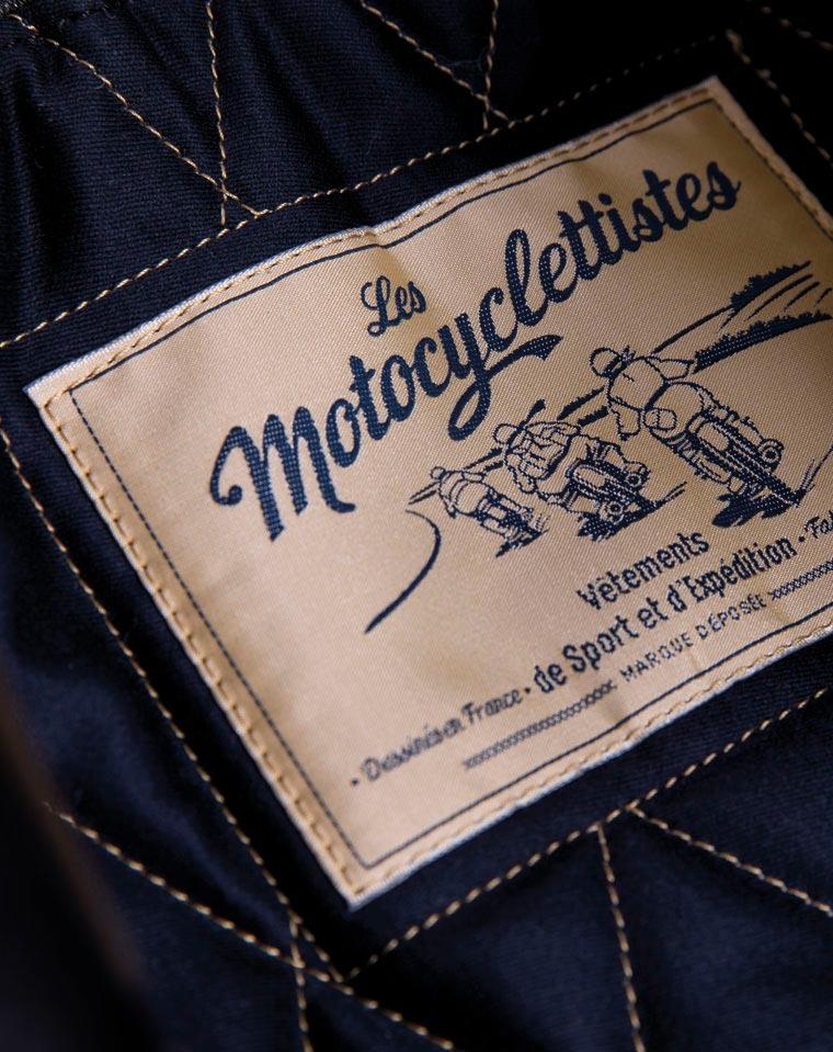Etiquette blouson Les Motocyclettistes par Maindor